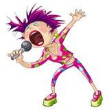 Schiocco femminile Cantante Immagini Stock