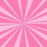 Schiocco rosa Art Retro Background con i raggi di sole Fotografia Stock