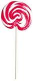 Schiocco rosso e bianco del lecca lecca del lollipop dei childs dei bambini del gigante Fotografia Stock Libera da Diritti