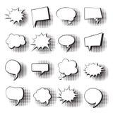 Schiocco stabilito Art Style Social Media Communication dell'icona della bolla di chiacchierata Immagine Stock Libera da Diritti