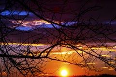 Schiocco variopinto di alba di colore Fotografia Stock