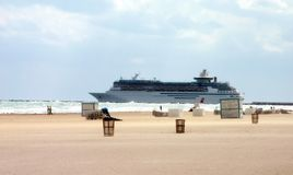 Schip bij Miami strand Royalty-vrije Stock Afbeelding
