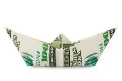 Schip dat van geld wordt gemaakt royalty-vrije stock foto