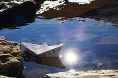 Schip in de open zee Royalty-vrije Stock Afbeelding
