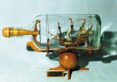 Schip in fles Royalty-vrije Stock Fotografie