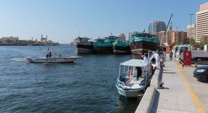 Schip in Haven in Doubai Stock Fotografie
