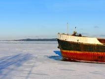 Schip in ijs Royalty-vrije Stock Foto
