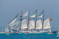 Schip Juan Sebastian de Elcano stock afbeeldingen