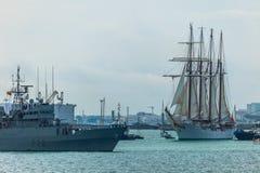 Schip Juan Sebastian de Elcano stock afbeelding