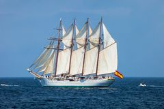 Schip Juan Sebastian de Elcano royalty-vrije stock foto