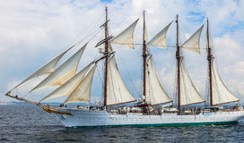 Schip Juan Sebastian de Elcano stock foto