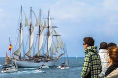 Schip Juan Sebastian de Elcano royalty-vrije stock fotografie
