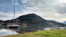 Schip in Lefkada royalty-vrije stock foto's