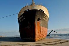 Schip met lading op het Kanaal van Kiel, Duitsland Royalty-vrije Stock Afbeelding