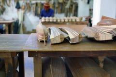 Schip modelfabriek Het eiland van Mauritius Stock Afbeeldingen