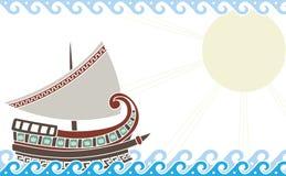 Schip in oceaan Royalty-vrije Stock Afbeelding