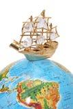 Schip op de bol Royalty-vrije Stock Foto
