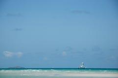 Schip op de horizon Royalty-vrije Stock Fotografie