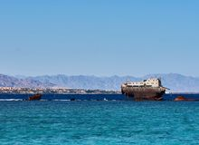 Schip op haven Royalty-vrije Stock Foto's