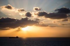 Schip op het Overzees Stock Afbeeldingen