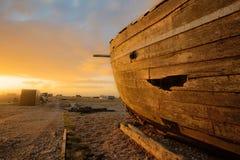 Schip op land Royalty-vrije Stock Foto's