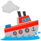 Schip op overzees vector illustratie