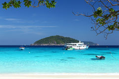Schip op overzees, Thailand Royalty-vrije Stock Fotografie