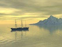 Schip op zee Stock Afbeelding
