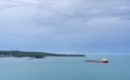 Schip op zee Royalty-vrije Stock Foto's
