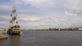 Schip-restaurant Gunst van Neva Heilige Petersburg, Rusland Stock Fotografie