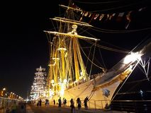 Schip in Rio de Janeiro royalty-vrije stock afbeelding