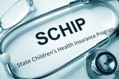 SCHIP State Children`s Health Insurance Program. Royalty Free Stock Image
