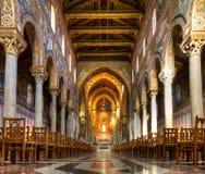 Schip van de Kathedraal van Monreale Royalty-vrije Stock Afbeelding
