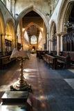 Schip van St Margaret Kerk in Lynn van de Koning, Norfolk, Engeland royalty-vrije stock foto