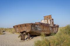 Schipbegraafplaats, Aral Overzees, Oezbekistan Royalty-vrije Stock Fotografie