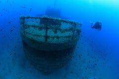 Schipbreuk in de Middellandse Zee Stock Foto's