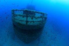 Schipbreuk in de Middellandse Zee stock fotografie