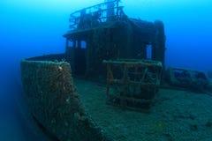 Schipbreuk in de Middellandse Zee Royalty-vrije Stock Foto's