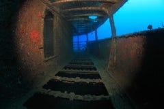 Schipbreuk in de Middellandse Zee royalty-vrije stock afbeelding