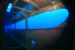 Schipbreuk in de Middellandse Zee Royalty-vrije Stock Foto