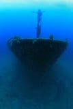 Schipbreuk in de Middellandse Zee stock foto