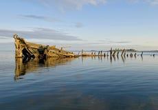 Schipbreuk in de Oostzee Stock Foto