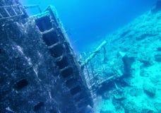 Schipbreuk in de Saronic-Golf van Griekenland royalty-vrije stock fotografie