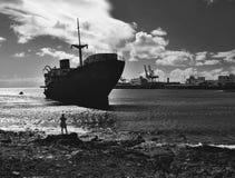 Schipbreuk op Lanzarote Royalty-vrije Stock Afbeeldingen