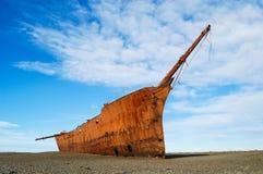 Schipbreuk in Patagonië Royalty-vrije Stock Fotografie
