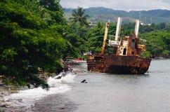 Schipbreuk - Solomon Islands royalty-vrije stock foto's