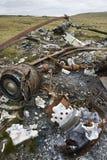 Schipbreuk van een Argentijnse Helikopter - de Falkland Eilanden stock afbeelding