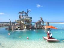 Schipbreukeling Cay Water Slides Stock Foto's