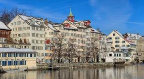 Schipfe处所在瑞士苏黎士 库存图片