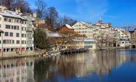 Schipfe处所在瑞士苏黎士 免版税图库摄影